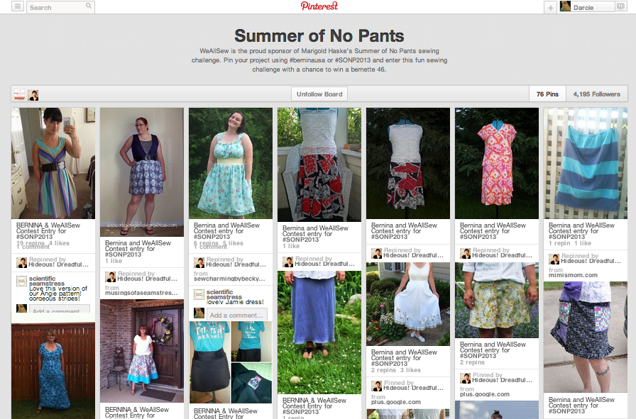 Summer of No Pants Pinterest Board