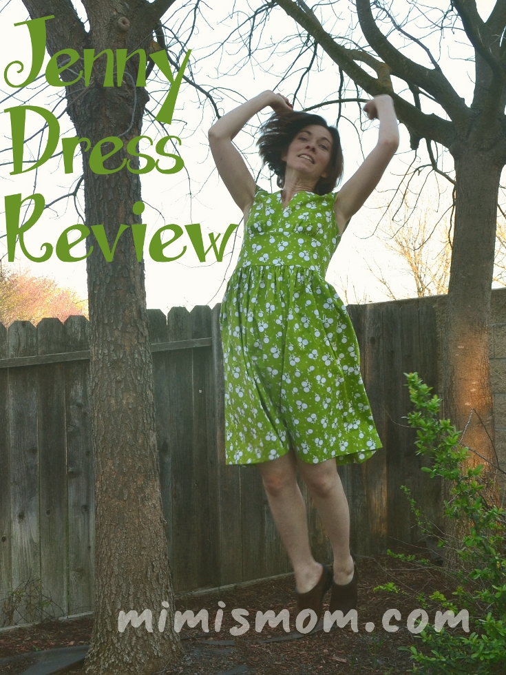Not a Real Green Dress! My Sis Boom Scientific Seamstress Jenny PDF Pattern Review by mimismom.com