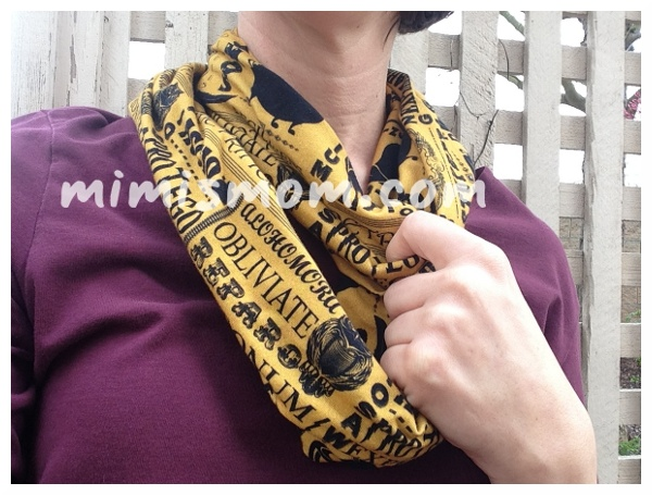 Win this Harry Potter inspired spells Infinity Scarf! Celebrating my first 100 fans at mimismom.com
