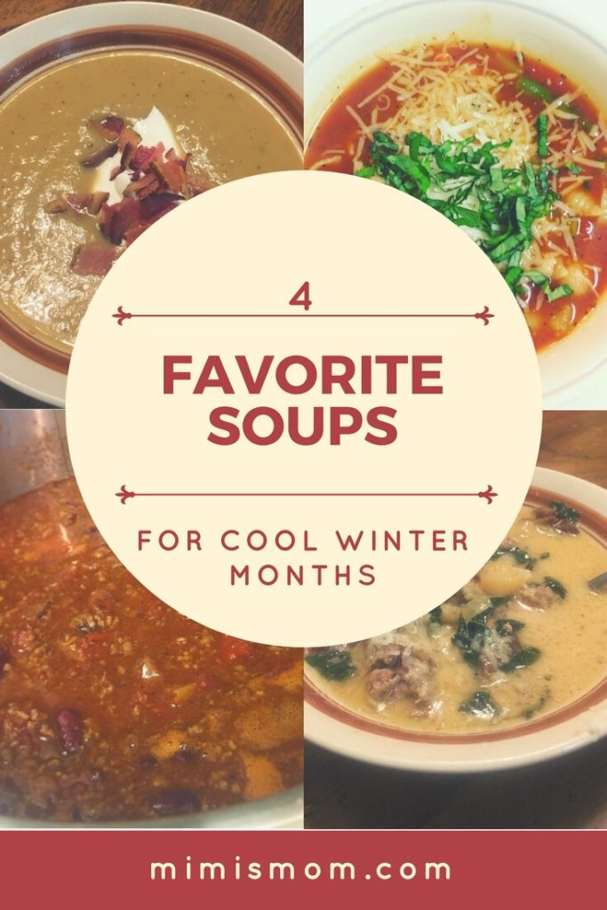 Four Favorite Soups for Cool Weather