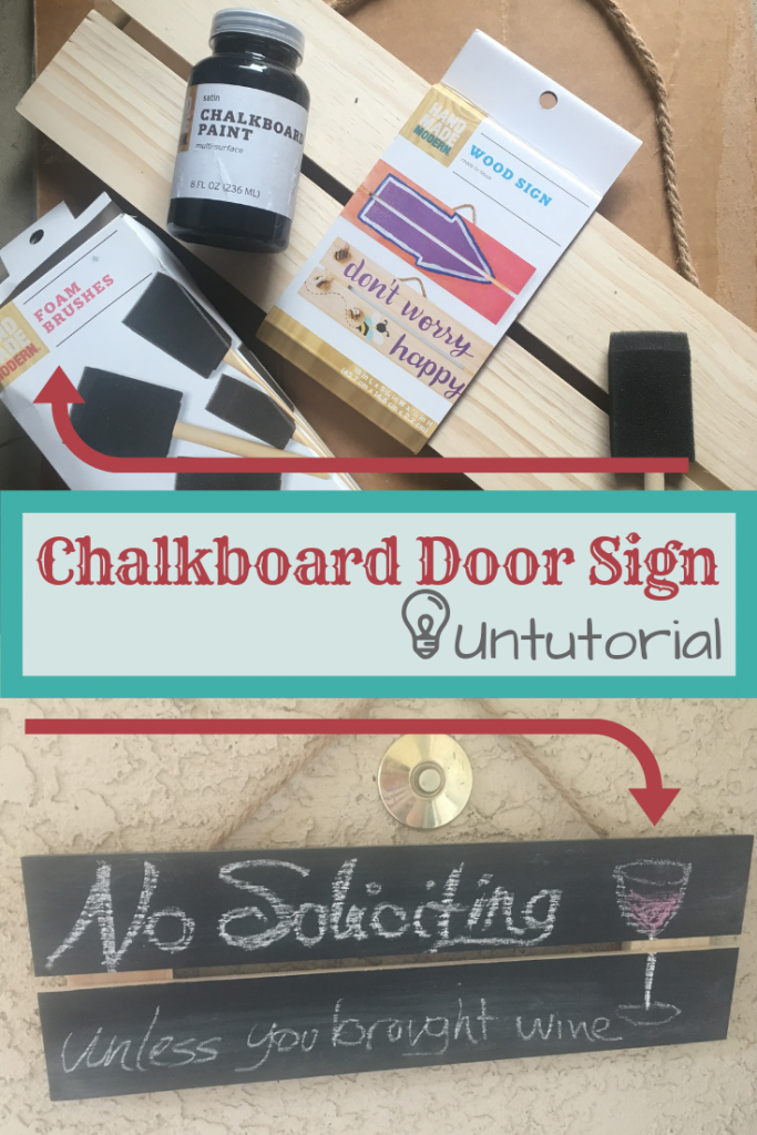 DIY Chalkboard Door Sign